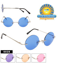 Colored Lens John Lennon Sunglasses 6028