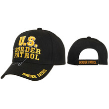 U.S. Border Patrol Military Cap ~ Black