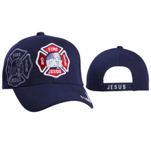 Wholesale Caps ~ On Fire For Jesus ~ Navy Blue