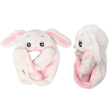 Wholesale Animal Hat | White & Pink Bunny with Long Arms