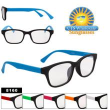 Clear Sunglasses - Wayfarers Style # 8160