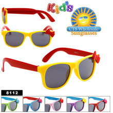 Kid's Wayfarer Sunglasses with Bows 8112