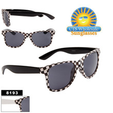 Checkered Wayfarer Sunglasses Wholesale - Style # 8193