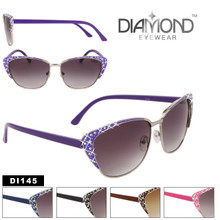 Cat Eye SUNGLASSES DI145 (12 pcs.) FASHION SUNGLASSES (Assorted Colors)