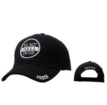 "Wholesale Christian Baseball Cap | ""Do Not Enter Hell""-Black"
