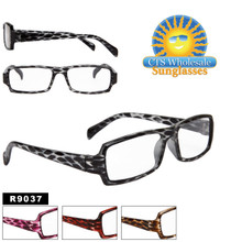 Reading Glasses - R9037 (12 pcs.) Assorted Colors ~ Lens Strengths +1.00—+3.50