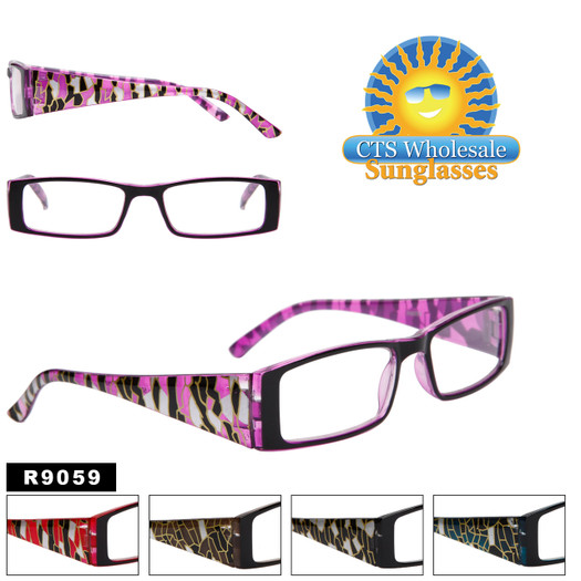 bulk reading glasses with colorful frames r9059