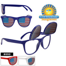 Wholesale American Flag Flip Up Wayfarers - 8092
