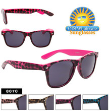 Animal Print Wayfarers 8070