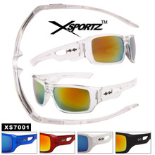 Men's Xsportz™ Sunglasses Wholesale - Style # XS7001 (12 pcs.) Assorted Colors