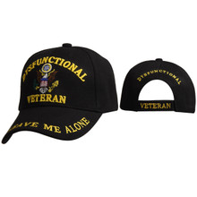 "Military Cap Wholesale  C6000 (1 pc.) ""Dysfunctional Veteran - Leave Me Alone"""