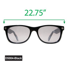 Large Wayfarer Sunglasses - Display D5004-Black