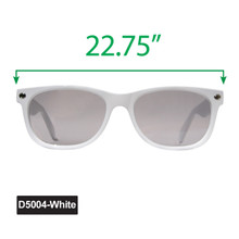 Large Wayfarer Sunglasses - Display D5004-White