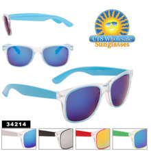 Mirrored Wayfarer Sunglasses Wholesale - Style #34214
