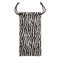 Zebra Print Sunglass Bag