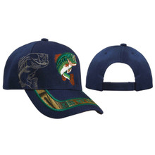 Navy Blue Wholesale Baseball Cap | Kiss my Bass