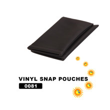 Wholesale Vinyl Snap Pouches ~ Black ~ 0081 (12 pcs.)