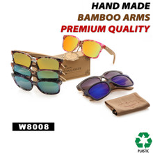 Wood SUNGLASSES with Flash Mirror Lens W8008