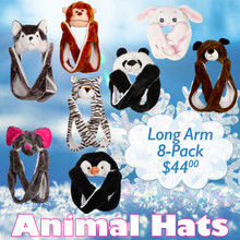 Animal Hat 8-Pack ~ Long Arm ~ AHLA2 (8 pcs.)