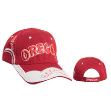 """Oregon"" Baseball Hat Wholesale Red"