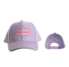 """Cutie"" Wholesale Baseball Hat for Juniors'-Purple"