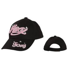 """FOXY"" Wholesale Juniors' Baseball Hat ~ Black"