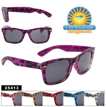 Animal Print Wayfarer Sunglasses 25413