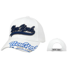 "White ""New York"" Baseball Cap"