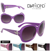 DI117 Dragonfly Rhinestone Sunglasses