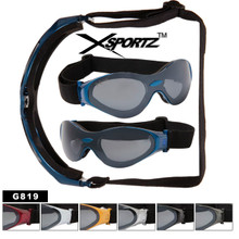 Wholesale Biker Goggles G819 (12 pcs.) Foam Padded Interior FRAMEs (Assorted Colors)