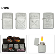Engraved Oil Lighters Wholesale | Rebel | USA