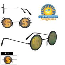 Dollar Sign ($) Hologram SUNGLASSES ~ Glass Lenses 111 (12 pcs.)