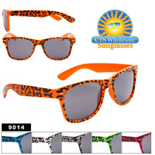 Animal Print Wayfarer Sunglasses 9014