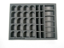 (Space Marines) 20 Terminator 10 Assault Marine 6 Bike Foam Tray (SM04BFL)