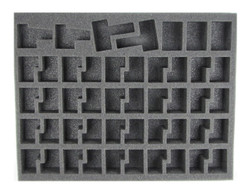 (Dark Eldar) 40 NEW Dark Eldar Warrior Foam Tray (DE09BFL)