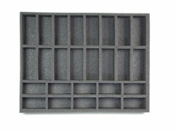 (Gen) Flames of War 10 Small 16 Medium Tank Foam Tray (F09BFL-1.5)