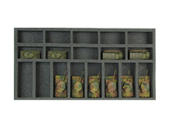 (Gen) Flames of War 10 Small 8 Medium Tank Foam Tray (BFM-1)