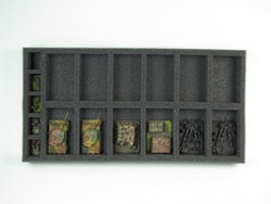 (Gen) Flames of War 12 Artillery Foam Tray (BFM-1.5)