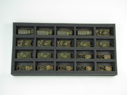 (Gen) Flames of War 20 Small Vehicle Foam Tray (F02BFM-1.5)
