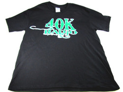 40K Radio T-Shirt with Green Logo