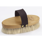 Wood Back Goat Hair Body Brush
