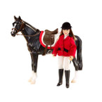 Included is an English saddle, bridle, and saddle pad. Horse not Included.