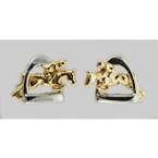 Finishing Touch Two Tone Jumper Stirrup Earrings
