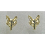 Finishing Touch Fox Post Earrings - Gold