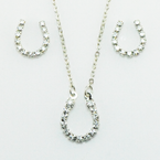 Finishing Touch Horseshoe Crystal Rhinestone Jewelry Set