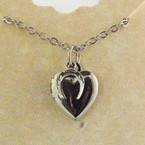 Finishing Touch Heart Locket with Horseshoe Charm