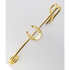 Finishing Touch Horseshoe Stock Pin - Gold