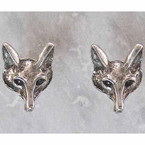 Finishing Touch Fox Post Earrings - Retro Silver Finish