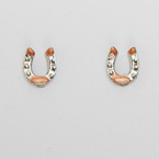 Finishing Touch Two Tone Horseshoe Earrings