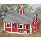 Breyer Stablemates Red Stable Set with Two Horses